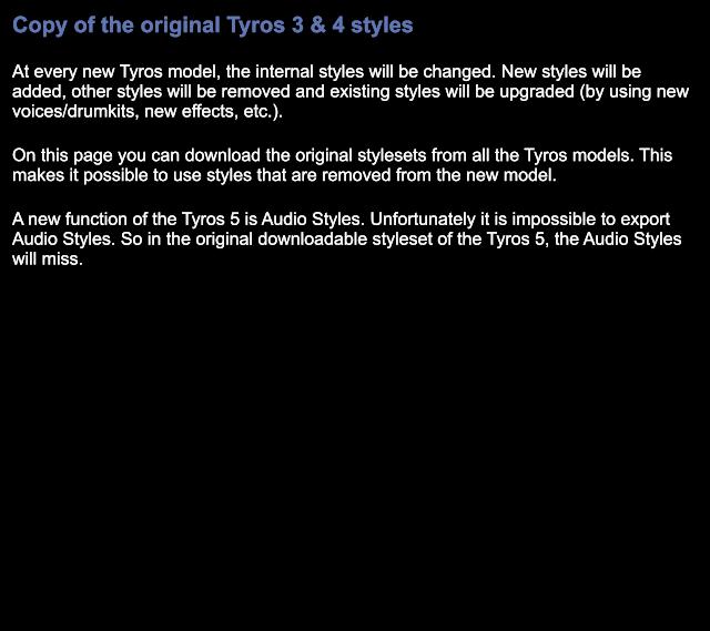 Original Tyros styles